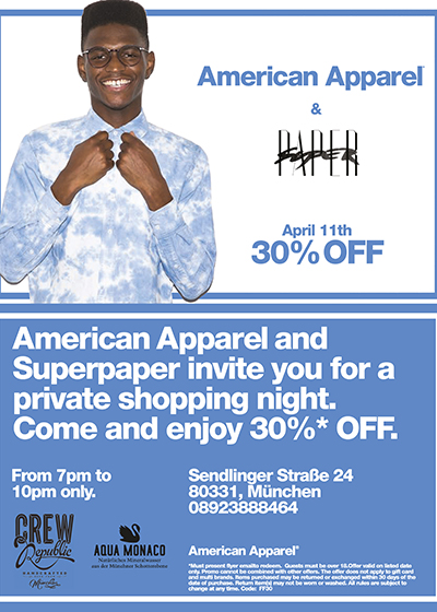 Super Paper American Apparel